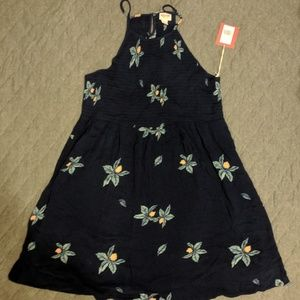 Mossimo Supply Co. Navy Floral Sundress NWT
